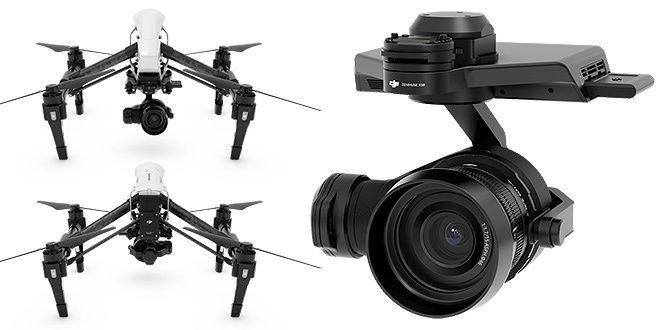 DJI Inspire Pro Drone + X5R 4K Camera RAW Package