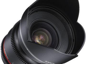 Rokinon 16mm T2.2 Cine DS Lens for Canon EF Mount