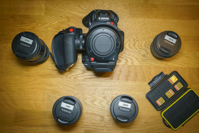 Canon EOS C100 Mark II + Rokinon EF T1.5 Cine DS Lens Set