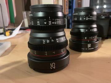Meike Cinema Lens Set - 16mm & 25mm T2.2 MFT