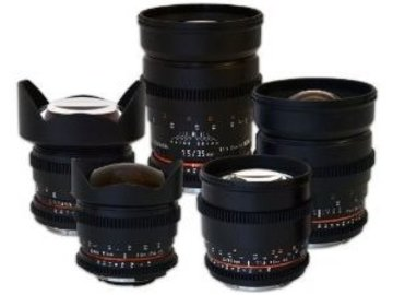 Rokinon (Samyang) Cinema Lenses - EF-Mount Prime Set