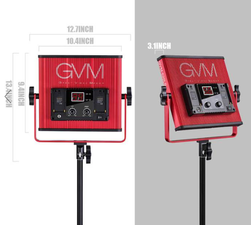 2 Bi Color LED lighting kit w/ 2 light stands + 2 sandbags