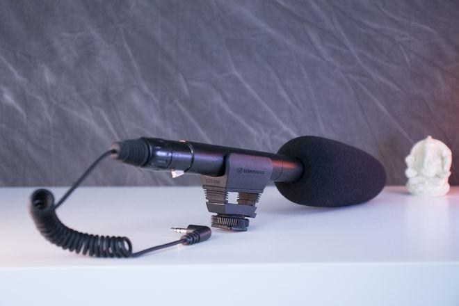Sennheiser MKE 600 Shotgun Mic  w/ XLR-3.5mm adapter