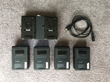 Rent: Switronix XP-L90S V-Mount Battery Set 4 Batteries + Charger