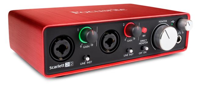 Focusrite Scarlett 2i2 Audio Interface