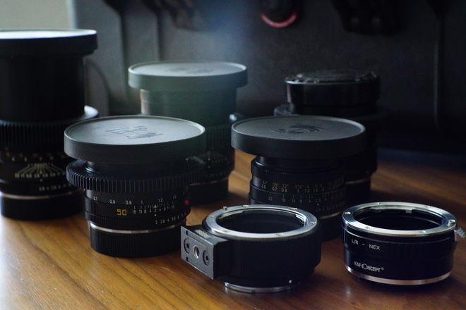5 Lens Leica R Set (28mm, 50mm, 60mm, 90mm, 135mm)