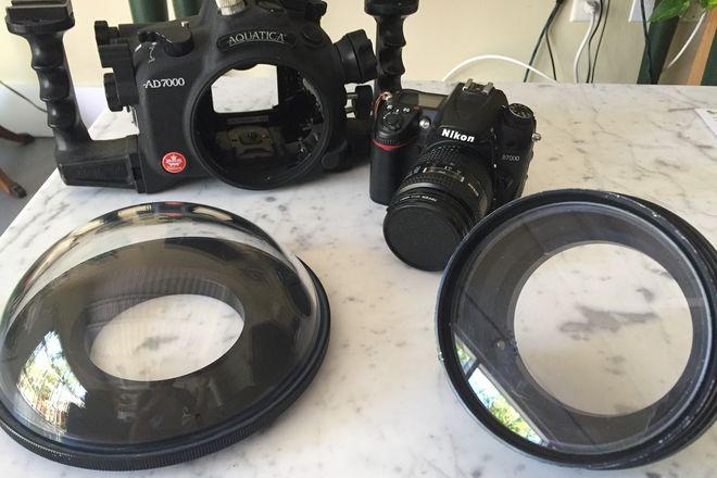 Aquatica D7000 Housing w/Dome Port and Nikon D7000 camera