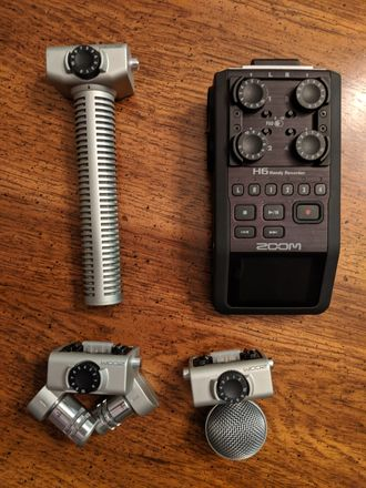 Zoom H6 Handy Recorder + X/Y, MS, and Shotgun Capsules