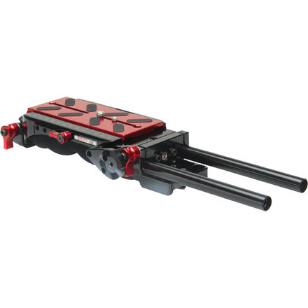 Zacuto VCT Baseplate w vct plate and arm- FS7 - Red - Ursa