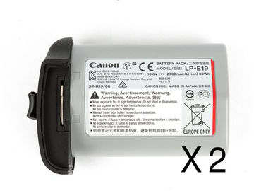 Two Canon LP-E19 Batteries For 1DX Mark II