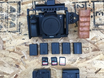 Rent: Sony a7sii kit with cage and metabones IV