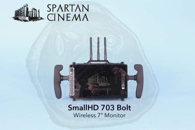 SmallHD 703 Bolt + Sun Shade + 2x Gold Mount Batteries #1