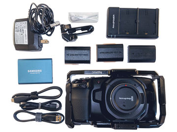 Blackmagic Pocket Cinema Camera 4K w/ SSD, Cage + Batteries