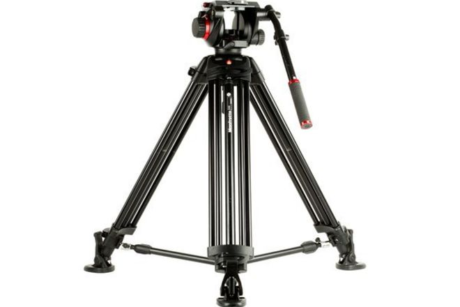 Manfrotto Fluid Head Tripod • Great 4 Cameras Small & Large