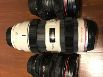 Rent: Canon L version II lens Set with focus and zoom gears.