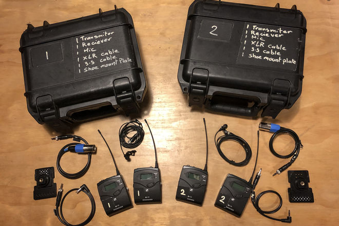 2 Sennheiser G4 Wireless Lavalier kits