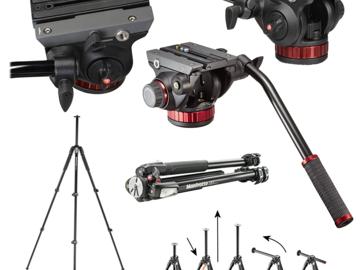 Rent: Manfrotto 502 Video Head & 055XPROB Legs TripodKit