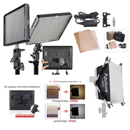 Aputure Amaran AL-528S (x2) & AL-528W (x1) Daylight LED Kit