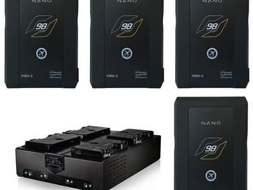 Rent: Core SWX Nano 98wh Gold Mount Batteries [Dual Charger]