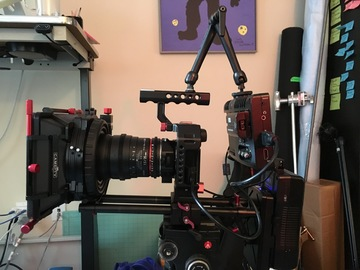 Sony A7s Full 4K Shogun Kit, Rokinon Lens Package, Sticks.