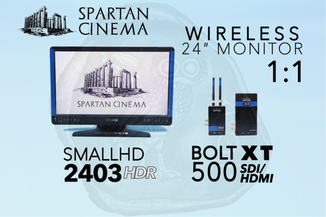 "Wireless 24"" Monitor: Bolt 500 XT 1:1 + SmallHD 2403 HDR #1"