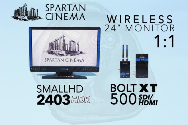 "Wireless 24"" Monitor: Bolt 500 XT 1:1 + SmallHD 2403 HDR #2"