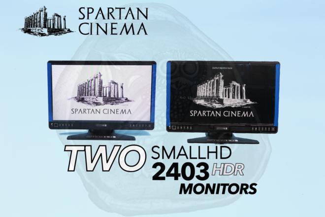 "Two 24"" Monitors: 2x SmallHD 2403 HDR Monitors Video Village"