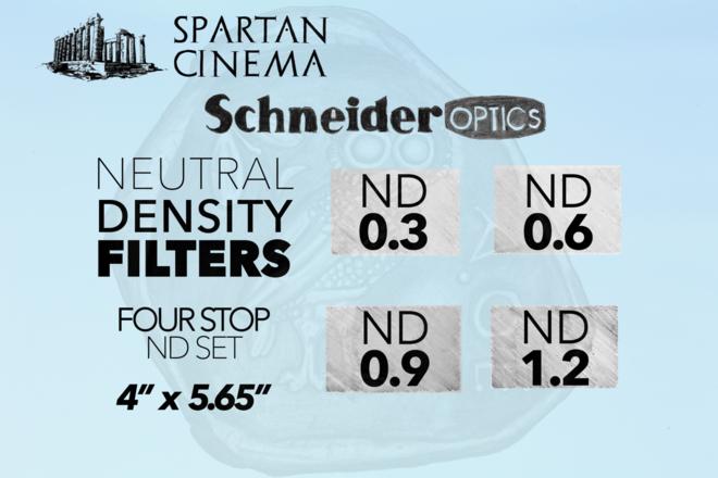 """Schneider ND Filter Set - 4x5.65"""" (0.3 - 0.6 - 0.9 - 1.2) #1"""