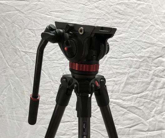 Manfrotto 535 Carbon Fiber Video Tripod (502AH Video Head)