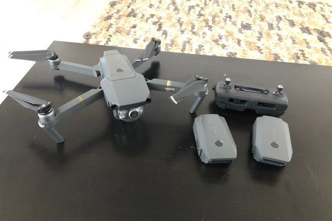 DJI Mavic Pro Quadcopter with 3 batteries