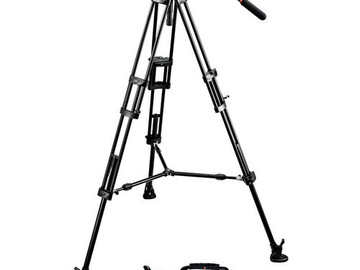Rent: Manfrotto  Aluminum Fluid Tripod with 501 Head
