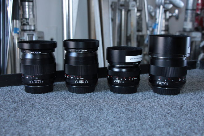 Zeiss Prime Lens Set ZE Distagon/Planar: 28mm 35mm 50mm 85mm