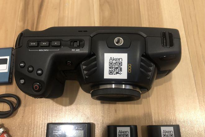 Black Magic Pocket Cinema 4K, media, batteries, timecode.