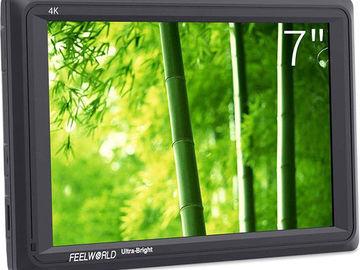 FeelWorld 4K Ultra-Bright Monitor + 2 NPF Batteries