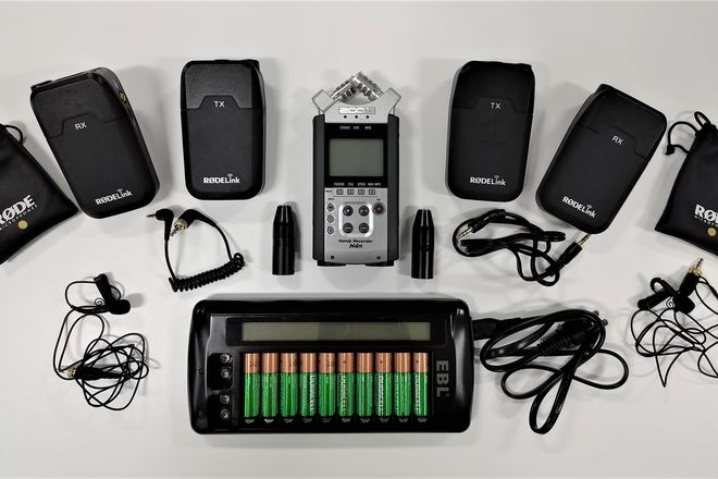 2 x RodeLink Wireless Kit w/ Zoom H4n and Batteries