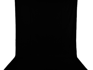 Rent: Neewer 6x9 feet Black/White Muslin Backdrops