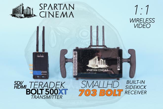 SmallHD 703 Bolt + Teradek Bolt 500 XT Transmitter 1:1