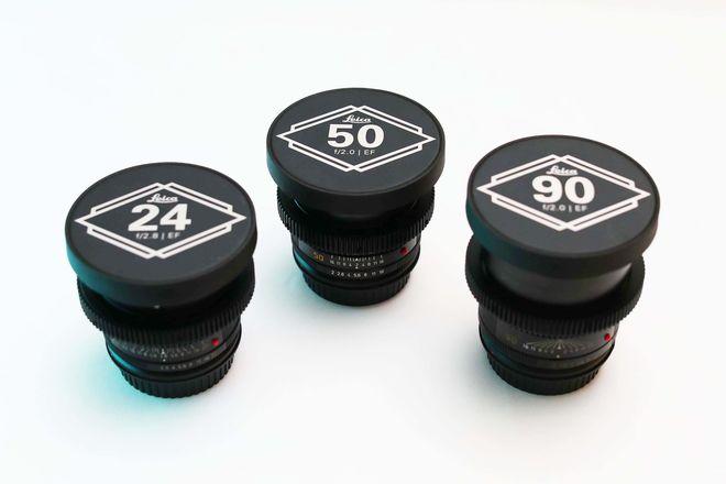 Leica R Cinemod 3 Lens Set EF Mount - 24/50/90