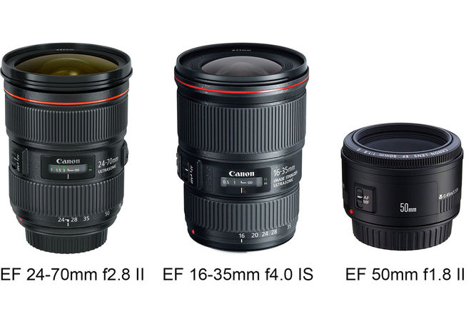Canon EF 3 Lens Package