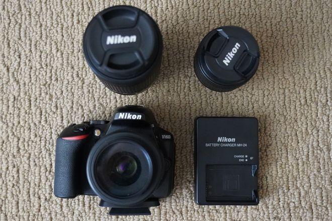 Nikon D5600 with 3 Lenses