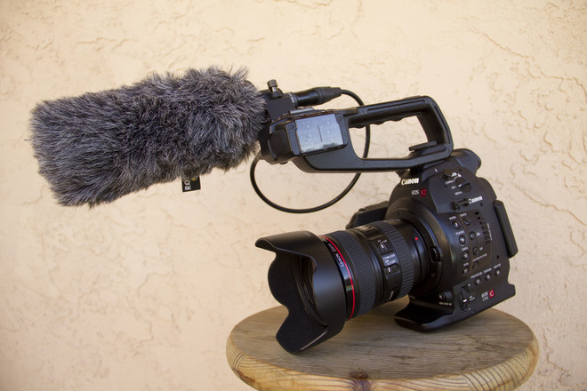 Canon C100 Mark 1 (w/ 24-105mm, Rode NTG1 shotgun mic)