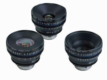 Zeiss CP2 Cinema Lenses Prime Set (35, 50, 85) EF or PL
