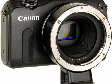 Rent: Canon EOS M Mirrorless 18MP Camera 22mm Lens and EF Adapter