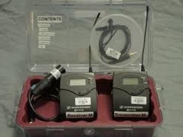 Rent: Sennheiser G3 lav kit complete