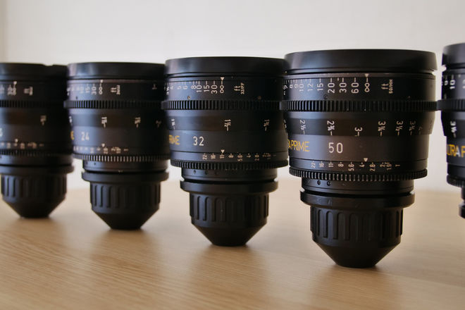 5x Zeiss Ultra Prime Set 16, 24, 32, 50, 85mm PL Cine Lenses
