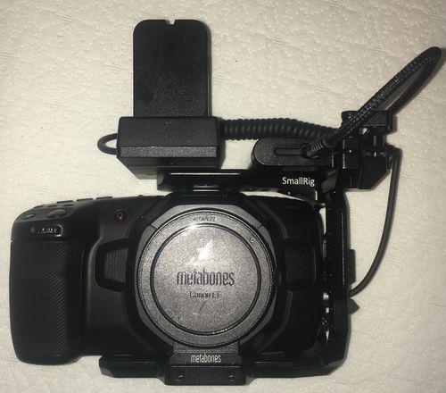 Blackmagic Pocket 4K (W/Metabones EF, 2TB SSD, Ext. Battery)