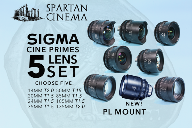 Choose 5: Sigma Cine FF High Speed Primes PL 105MM NEW