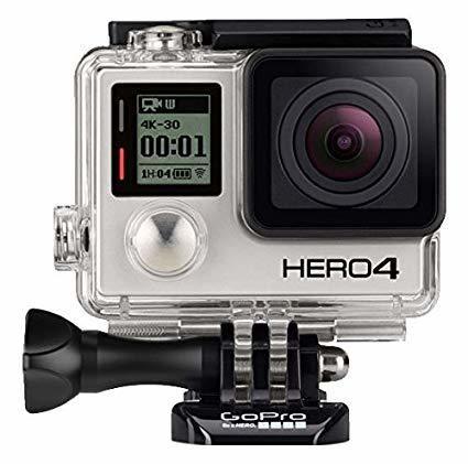 GoPro HERO4 Black w/Battery Back, LCD, Extra Batteries/Media
