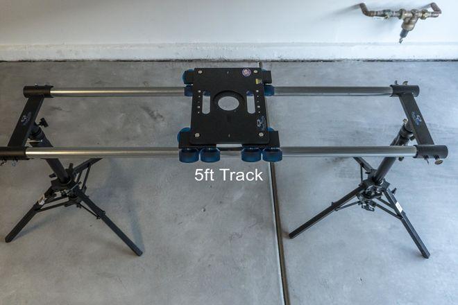 Dana Dolly Kit + 5ft Track + 2 Kupo Slider Stands