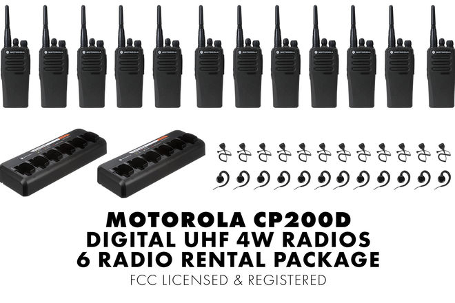 12 Unit Set | Motorola CP200d Digital Walkie Talkie Package